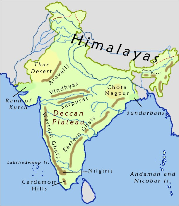 Western Ghats On Map Eastern Ghats Map Imag...